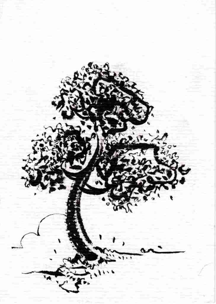 mod arbres encre de chine