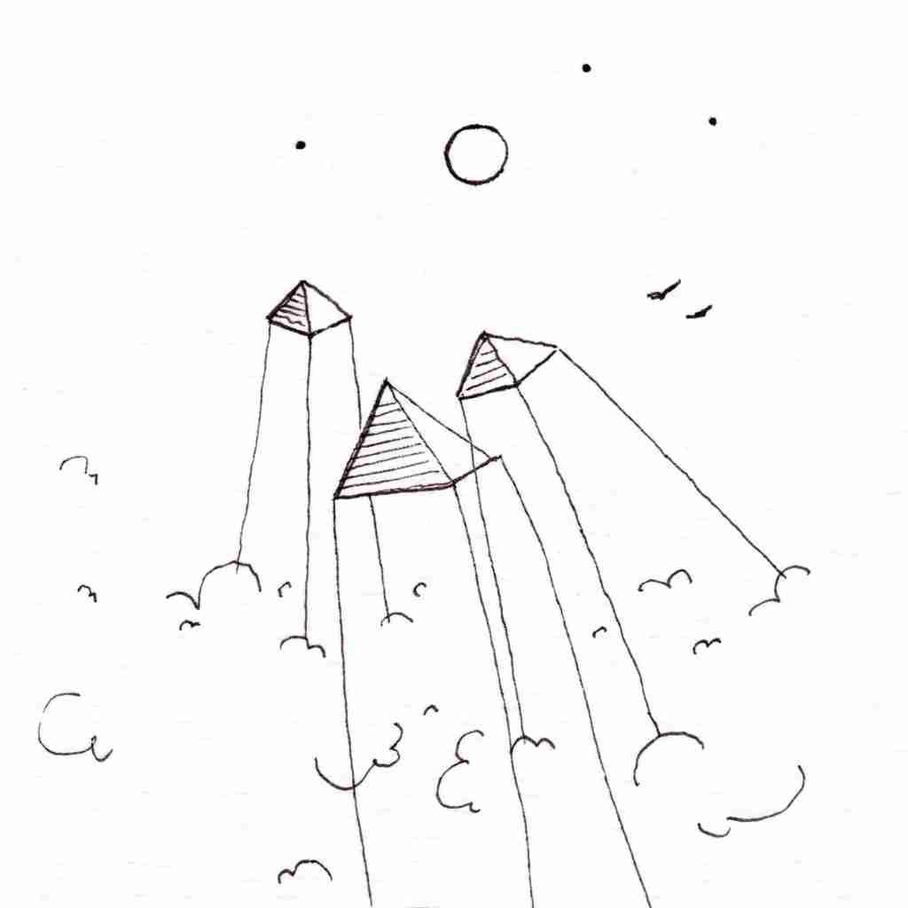 mod Pyramides volantes