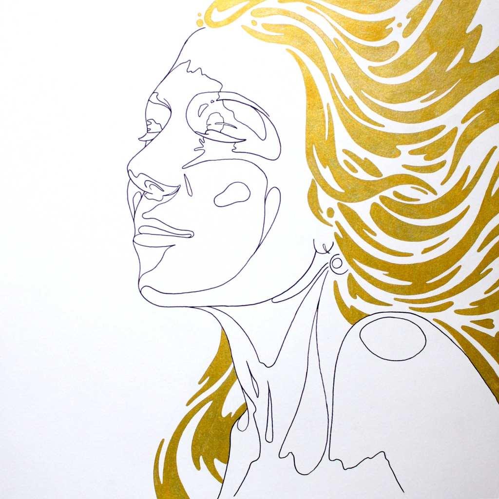 Golden Hair Girl kevin rouxel