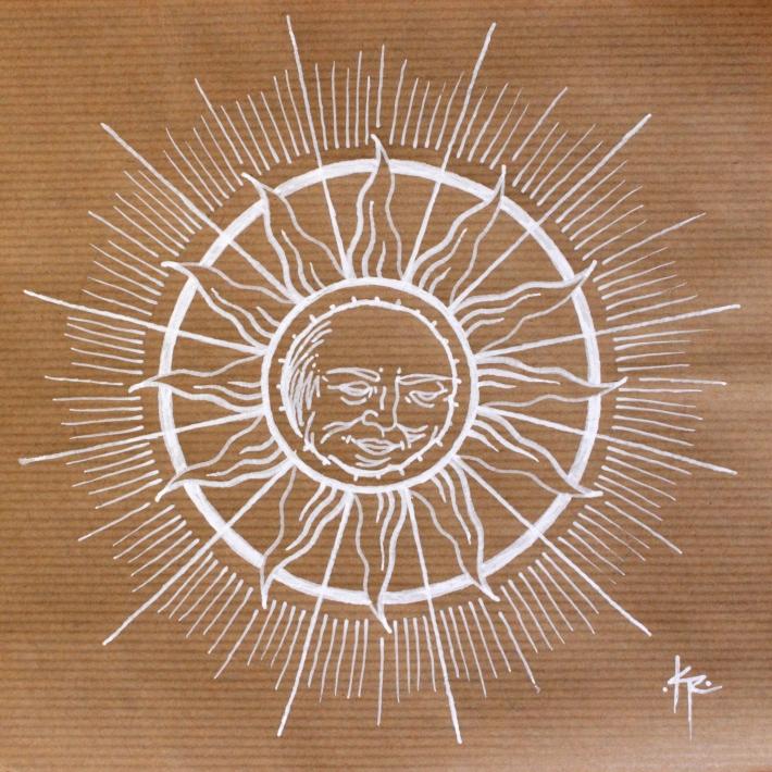 Classic sun representation